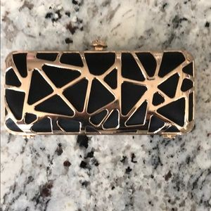 Sephora Black/Gold Clutch with Makeup Brush Set